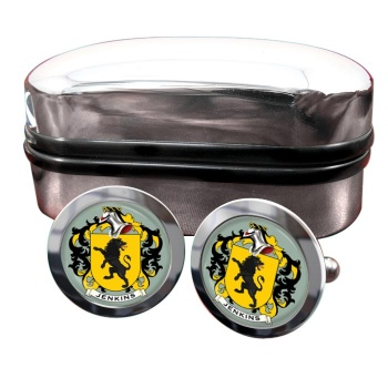 Jenkins Coat of Arms Round Cufflinks