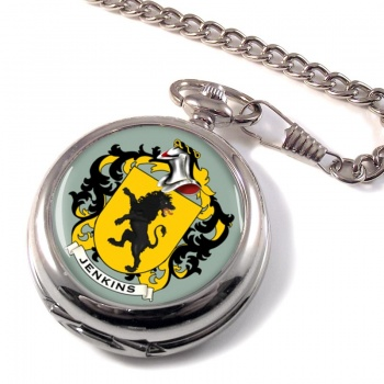 Jenkins Coat of Arms Pocket Watch