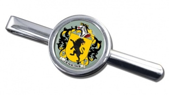 Jenkins Coat of Arms Round Tie Clip