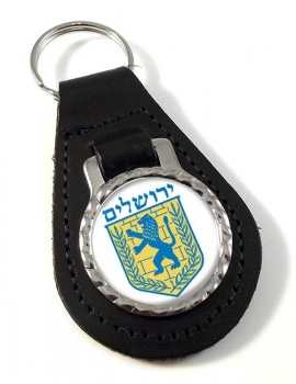 Jerusalem (Israel) Leather Key Fob