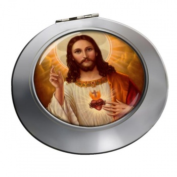 Jesus Sacred Heart Chrome Mirror