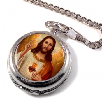 Jesus Sacred Heart Pocket Watch