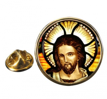 Icon of Christ Round Pin Badge