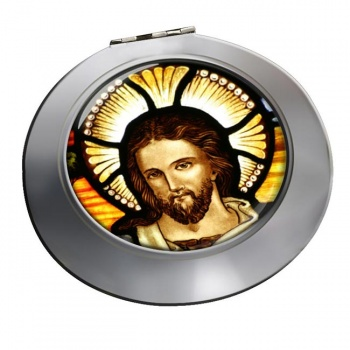 Icon of Christ Chrome Mirror