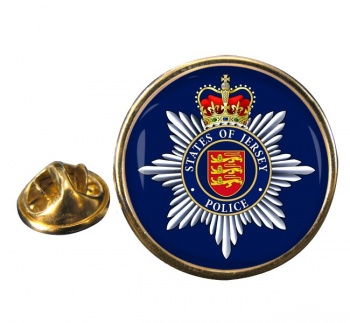 States of Jersey Police Round Pin Badge