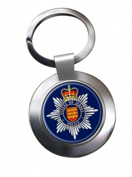 States of Jersey Police Chrome Key Ring