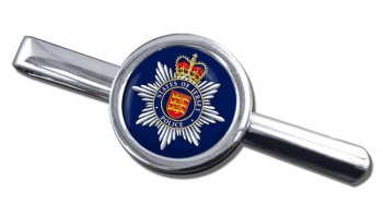 States of Jersey Police Round Tie Clip