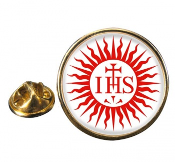 Jesuit Sun Round Pin Badge