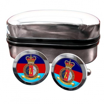 Joint Ground Based Air Defence Headquarters Round Cufflinks