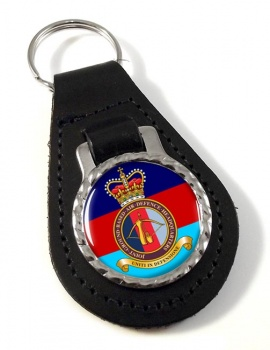 Joint Ground Based Air Defence Headquarters Leather Key Fob