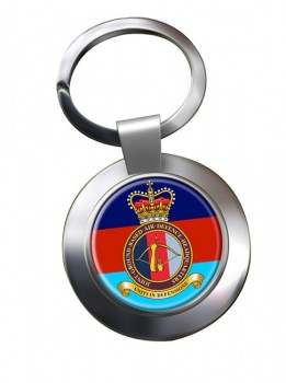 Joint Ground Based Air Defence Headquarters Chrome Key Ring