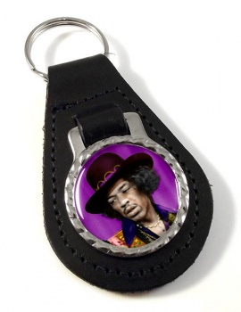 Jimi Hendrix Leather Key Fob