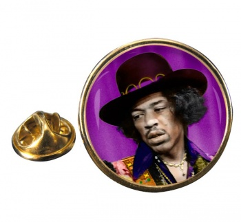 Jimi Hendrix Round Pin Badge