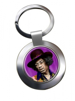 Jimi Hendrix Chrome Key Ring
