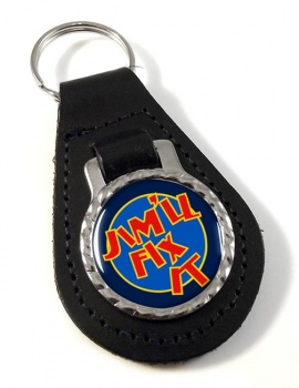 Jim'll Fix It Leather Key Fob