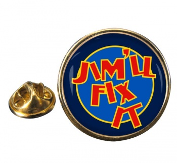 Jim'll Fix It Round Pin Badge