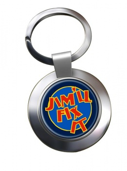 Jim'll Fix It Chrome Key Ring