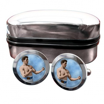 James J. Corbett Round Cufflinks