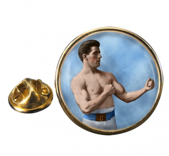 James J. Corbett Round Pin Badge