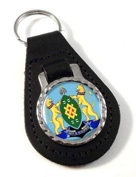 Johannesburg (South Africa) Leather Key Fob