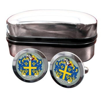 Johnson Coat of Arms Round Cufflinks