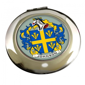 Johnson Coat of Arms Chrome Mirror