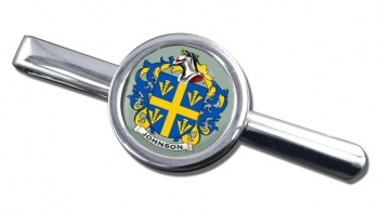 Johnson Coat of Arms Round Tie Clip