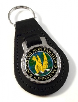 Johnston Scottish Clan Leather Key Fob
