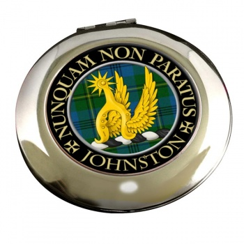 Johnston Scottish Clan Chrome Mirror
