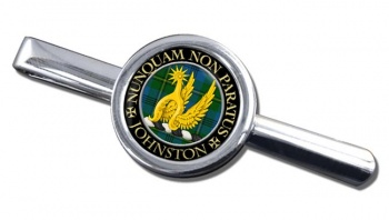 Johnston Scottish Clan Round Tie Clip