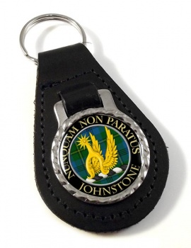 Johnstone Scottish Clan Leather Key Fob