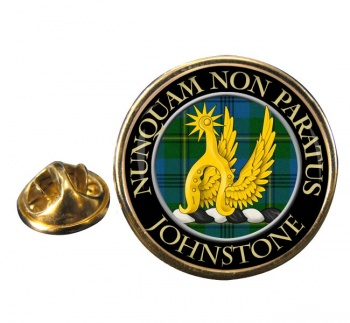 Johnstone Scottish Clan Round Pin Badge