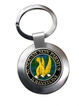 Johnstone Scottish Clan Chrome Key Ring