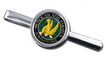 Johnstone Scottish Clan Round Tie Clip