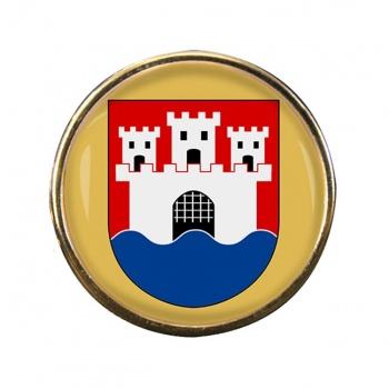 Jonkoping (Sweden) Round Pin Badge