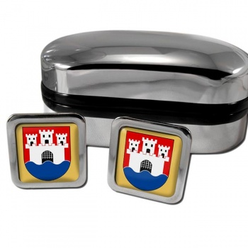 Jonkoping Sweden Square Cufflinks