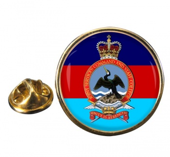 Joint Services Command and Staff College Round Pin Badge