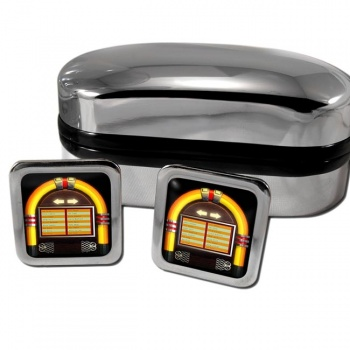 Juke Box Square Cufflinks
