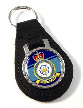 RAF Station Jurby Head Leather Key Fob