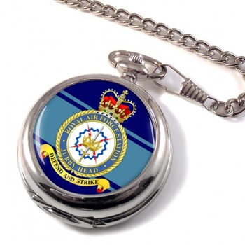 RAF Station Jurby Head Pocket Watch