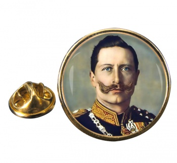 Kaiser Wilhelm II Round Pin Badge