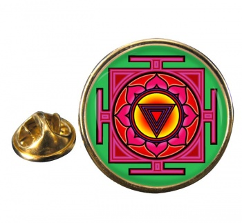 Kali Yantra Round Pin Badge