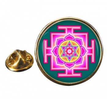 Kamala Yantra Round Pin Badge