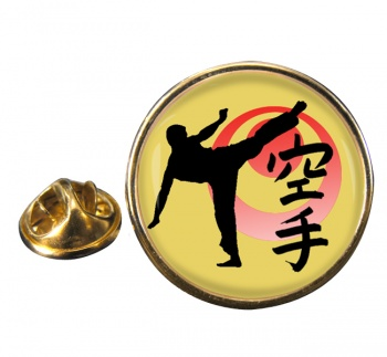 Karate Round Pin Badge