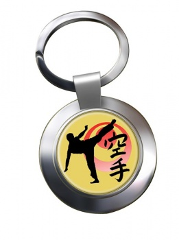 Karate Chrome Key Ring