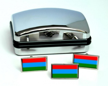 Karelia Flag Cufflink and Tie Pin Set