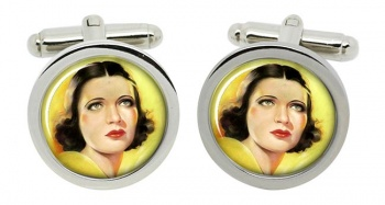 Kay Francis, Actress Round Cufflinks