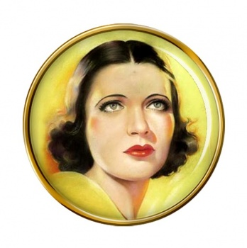 Kay Francis, Actress Pin Badge