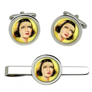 Kay Francis, Actress Cufflink and Tie Clip Set