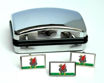 Kazan Flag Cufflink and Tie Pin Set